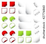 big set of colorful and white... | Shutterstock .eps vector #42776860