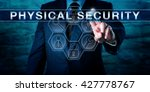 intelligence officer is pushing ... | Shutterstock . vector #427778767