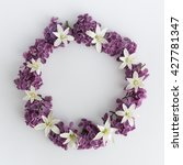 Circle Frame  Wreath Of Purple...