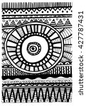tribal abstract pattern    Shutterstock .eps vector #427787431