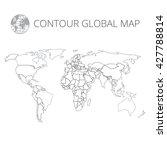 world map contour vector... | Shutterstock .eps vector #427788814