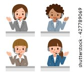 female call centre operator... | Shutterstock .eps vector #427789069