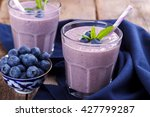 blueberry smoothie with chia... | Shutterstock . vector #427799287
