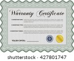 sample warranty certificate.... | Shutterstock .eps vector #427801747