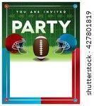 an american football party... | Shutterstock .eps vector #427801819