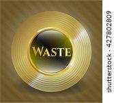 waste golden badge | Shutterstock .eps vector #427802809