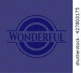 wonderful emblem with denim... | Shutterstock .eps vector #427803175
