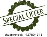 special offer rubber grunge... | Shutterstock .eps vector #427804141