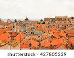 view from the wall on the roof... | Shutterstock . vector #427805239