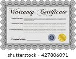sample warranty certificate.... | Shutterstock .eps vector #427806091