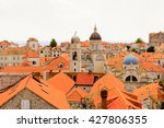 view from the wall on the roof... | Shutterstock . vector #427806355