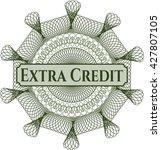 Extra Credit Money Style Rosette