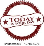 today is your day grunge stamp | Shutterstock .eps vector #427814671