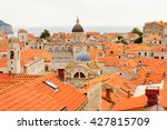 view from the wall on the roof... | Shutterstock . vector #427815709