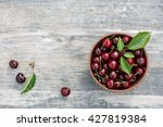 cherries in the bowl  on a... | Shutterstock . vector #427819384