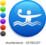water polo icon on round... | Shutterstock .eps vector #42782107