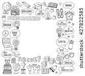 language school doodle vector... | Shutterstock .eps vector #427822585