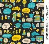 language school doodle icons on ... | Shutterstock .eps vector #427822594