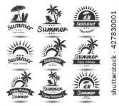 summer holidays design elements ... | Shutterstock .eps vector #427830001