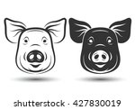 Image Of Face Pig Silhouette...
