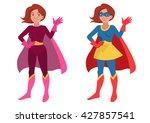 vector hand drawn cartoon... | Shutterstock .eps vector #427857541