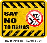 say no to drugs   Shutterstock .eps vector #427866739