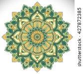 flower mandalas. vintage... | Shutterstock .eps vector #427872385