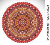 flower mandalas. vintage...   Shutterstock .eps vector #427872625