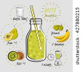 recipe green smoothie with... | Shutterstock .eps vector #427880215