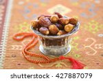 Arabic Dates In A Glass Bowls...