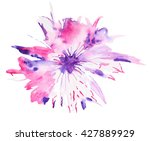 Abstract Watercolor Flower....