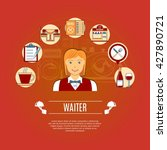 waiter concept icons set.... | Shutterstock .eps vector #427890721