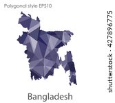 bangladesh map in geometric... | Shutterstock .eps vector #427896775