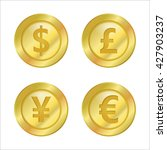 coin currency symbols vector... | Shutterstock .eps vector #427903237