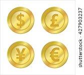 coin currency symbols vector... | Shutterstock .eps vector #427903237