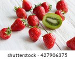 Fresh Sweet Strawberry With...