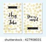 wedding invitation  thank you...   Shutterstock .eps vector #427908031