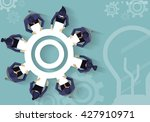 vector business together to... | Shutterstock .eps vector #427910971