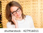 view of a young attractive... | Shutterstock . vector #427916011