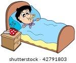 cartoon patient on white... | Shutterstock .eps vector #42791803