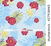 romantic tropical flower with... | Shutterstock .eps vector #427918465