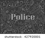 vector line art doodle set of... | Shutterstock .eps vector #427920001