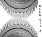 gears and  blurred gears on... | Shutterstock . vector #42792142