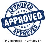 approved. stamp | Shutterstock .eps vector #427925857