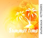summer composition with palm... | Shutterstock .eps vector #427926001