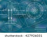 mechanical engineering drawings.... | Shutterstock .eps vector #427926031