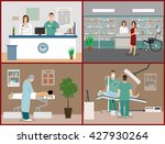 banners set with patients ... | Shutterstock . vector #427930264
