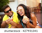 close up lifestyle funny... | Shutterstock . vector #427931341