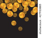falling gold coins on a black... | Shutterstock .eps vector #427933885