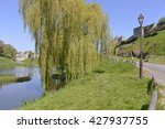 Pond And Weeping Willow At...